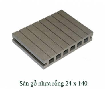 Sàn gỗ nhựa rỗng 24x140