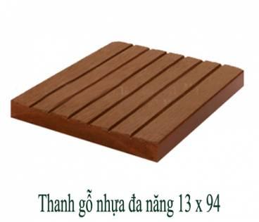 Thanh gỗ nhựa đa năng 13x94