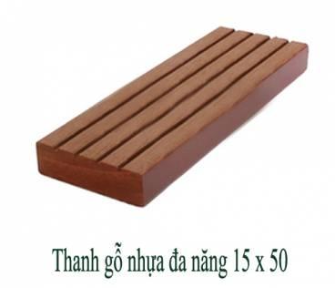 Thanh gỗ nhựa đa năng 15x50