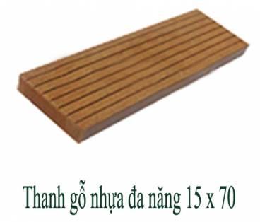 Thanh gỗ nhựa đa năng 15x70