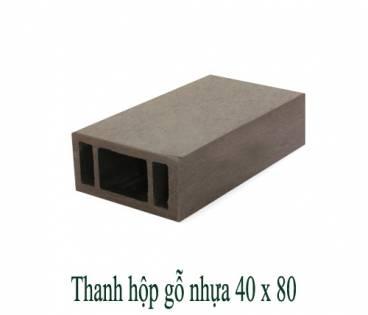 Thanh hộp gỗ nhựa 40x80