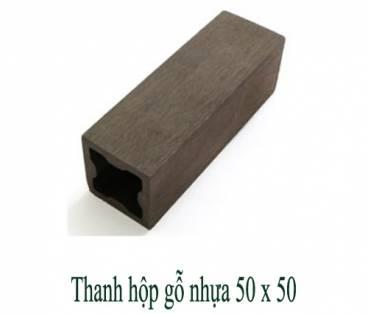 Thanh hộp gỗ nhựa 50x50