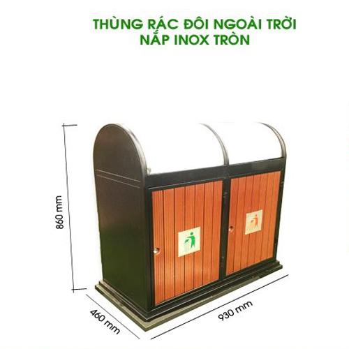 Thung-rac-doi-ngoai-troi-nap-inox-tron