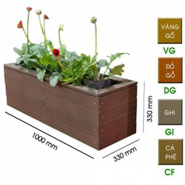 Chậu trồng cây gỗ nhựa