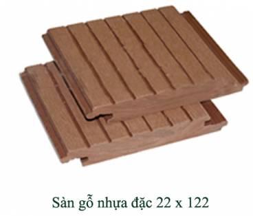 Sàn gỗ nhựa đặc 22x122