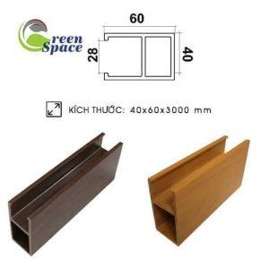 Thanh lam thả trần wpvc 40x60 mm