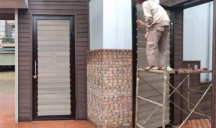 Cánh cửa cánh cổng gỗ nhựa ngoài trời